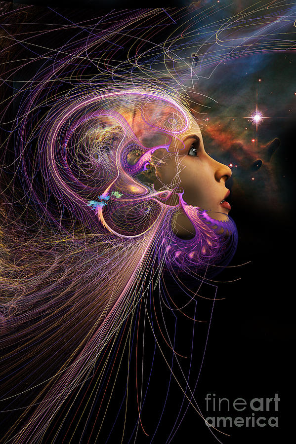 Starchild Digital Art - Starborn by John Edwards