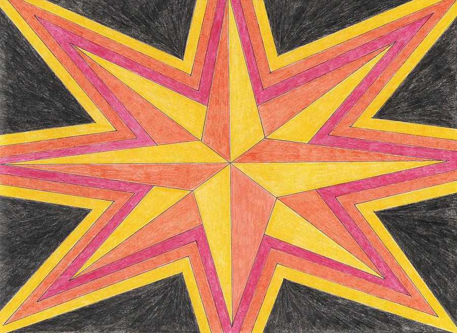 Star Drawing - Starburst 2 by Eric Forster