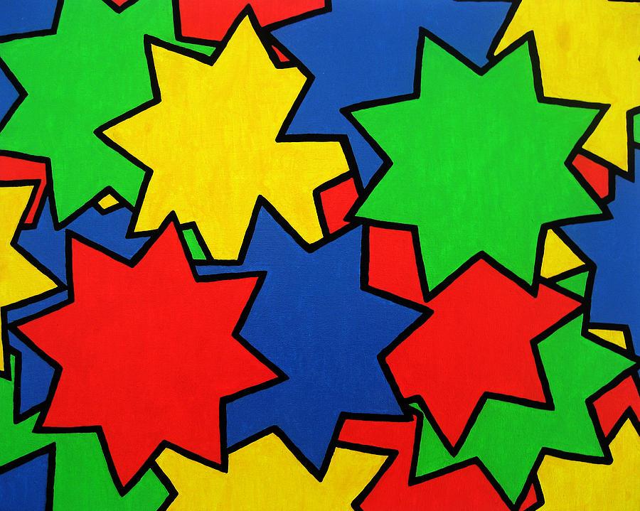 Stars Painting - Starburst by Oliver Johnston
