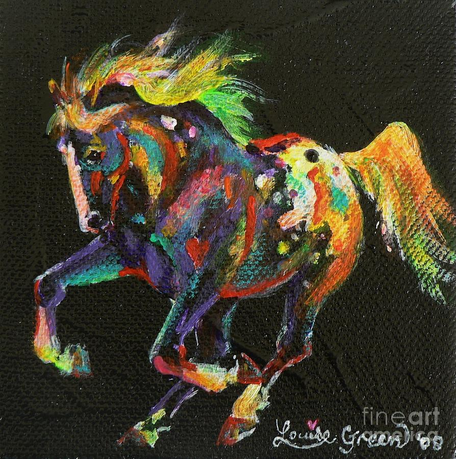 Appy Painting - Starburst Pony by Louise Green