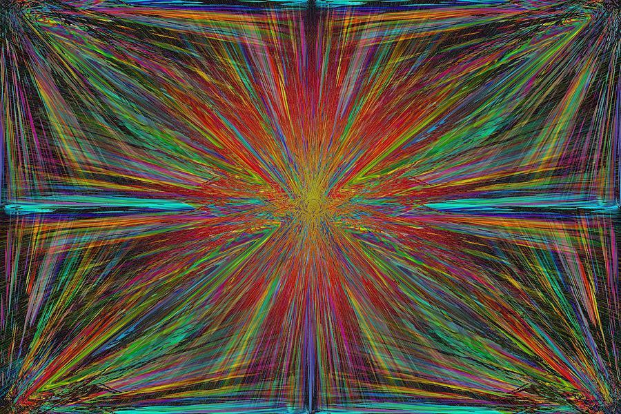 Starburst Digital Art - Starburst by Tim Allen