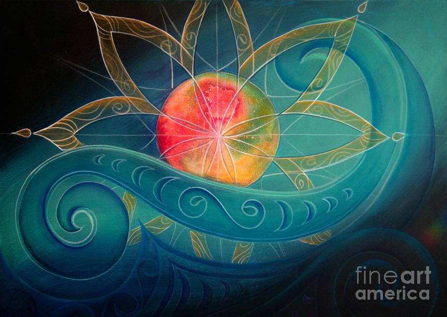 Star Painting - Starburst by Reina Cottier