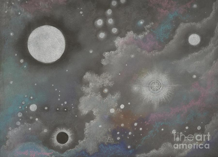 Atmospheric Drawing - Stardust by Janet Hinshaw