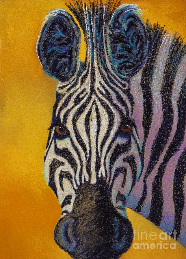 Zebra Pastel - Stare Down by Tracy L Teeter