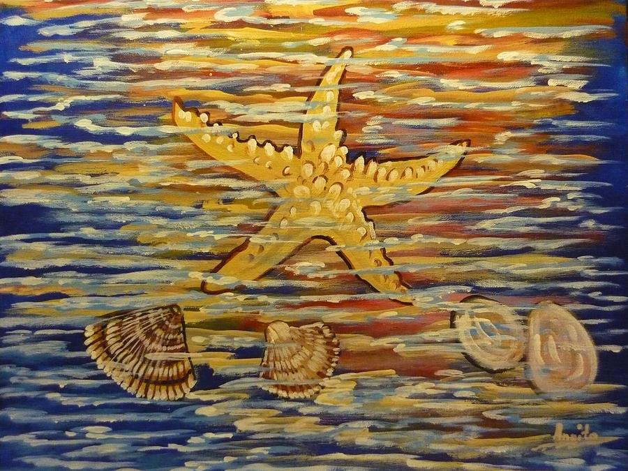 Sea Painting - Starfish by Anna Dionia