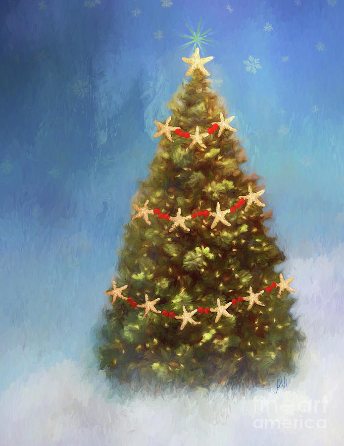 Starfish Christmas Tree Photograph by Jean Kirby