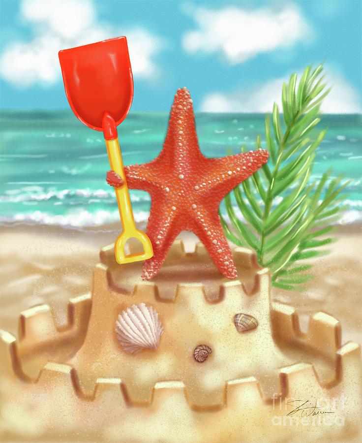 Starfish makes a Sandcastle by Shari Warren