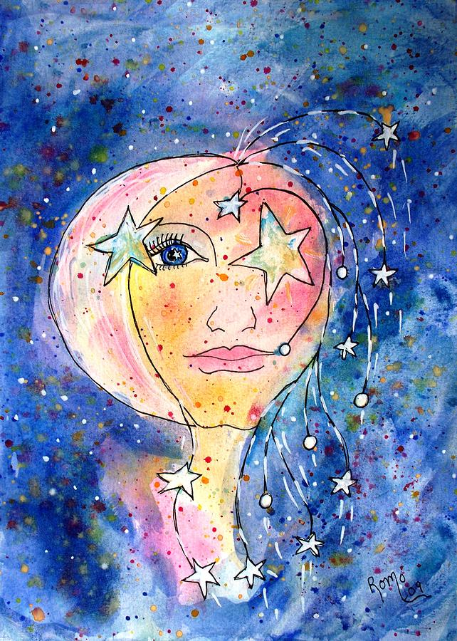 Portrait Painting - Stargazer by Robin Monroe