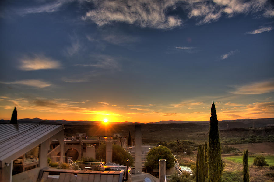 Sunrise Photograph - Starise At Arcosanti by William Wetmore