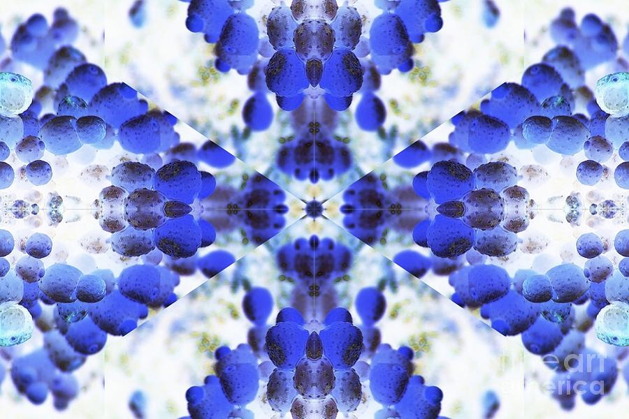 Abstract Digital Art - Starlight Blue by Lorles Lifestyles