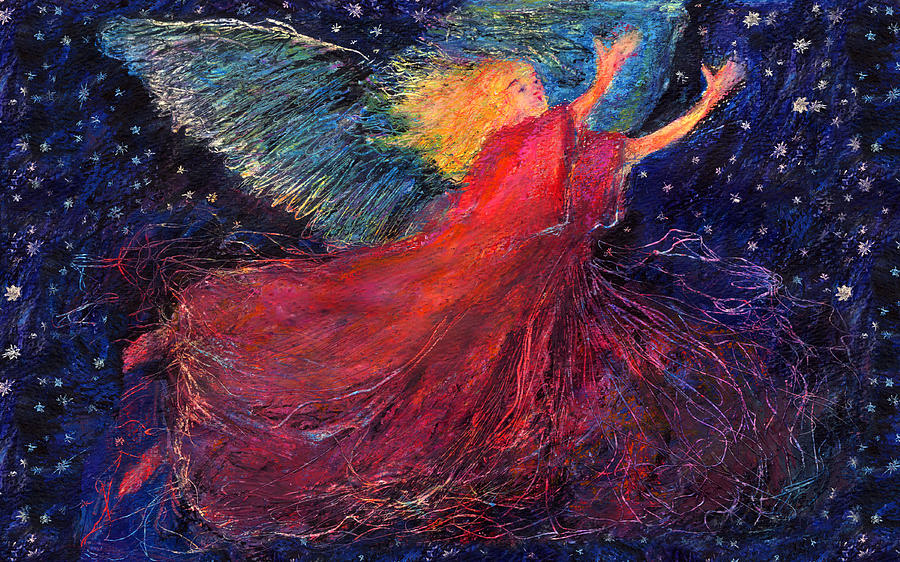 Angel Painting - Starry Angel by Diana Ludwig