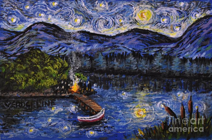 Starry Lake by Christina Verdgeline