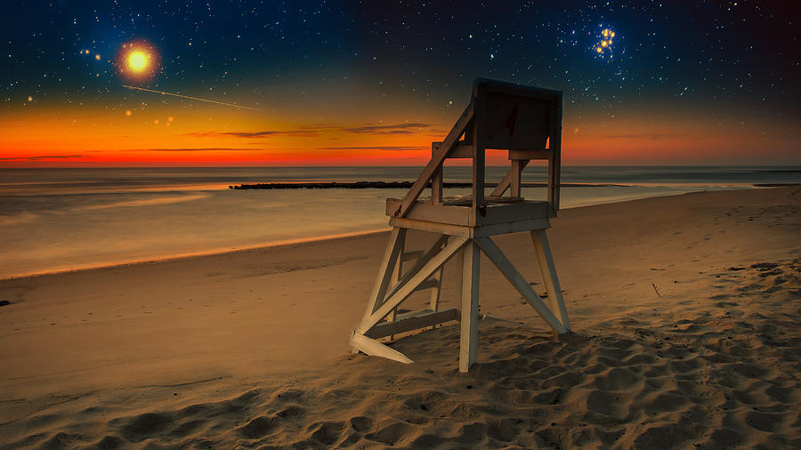 Fantasy Photograph - Starry Night Coast Guard Beach Cape Cod by Dapixara Art