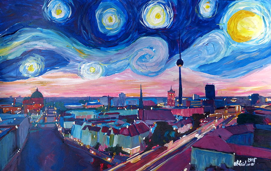 starry night in berlin van gogh inspirations in germany. Black Bedroom Furniture Sets. Home Design Ideas