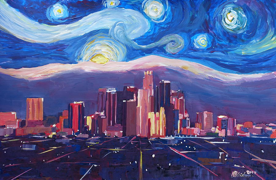Starry night in los angeles van gogh inspirations with for Painting in los angeles