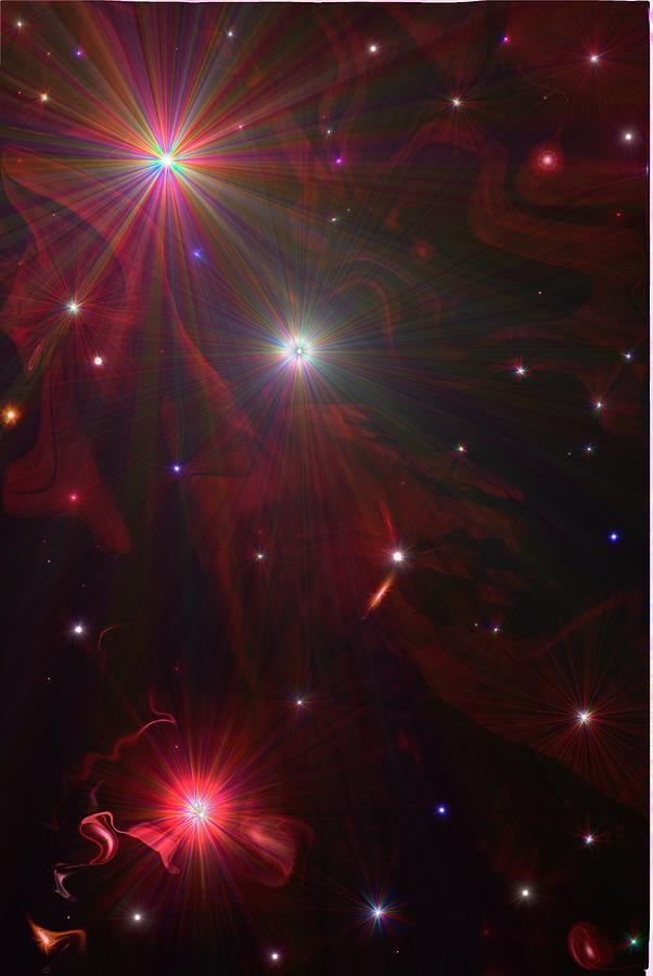 Starry Night Digital Art - Starry Night by Michelle  BarlondSmith