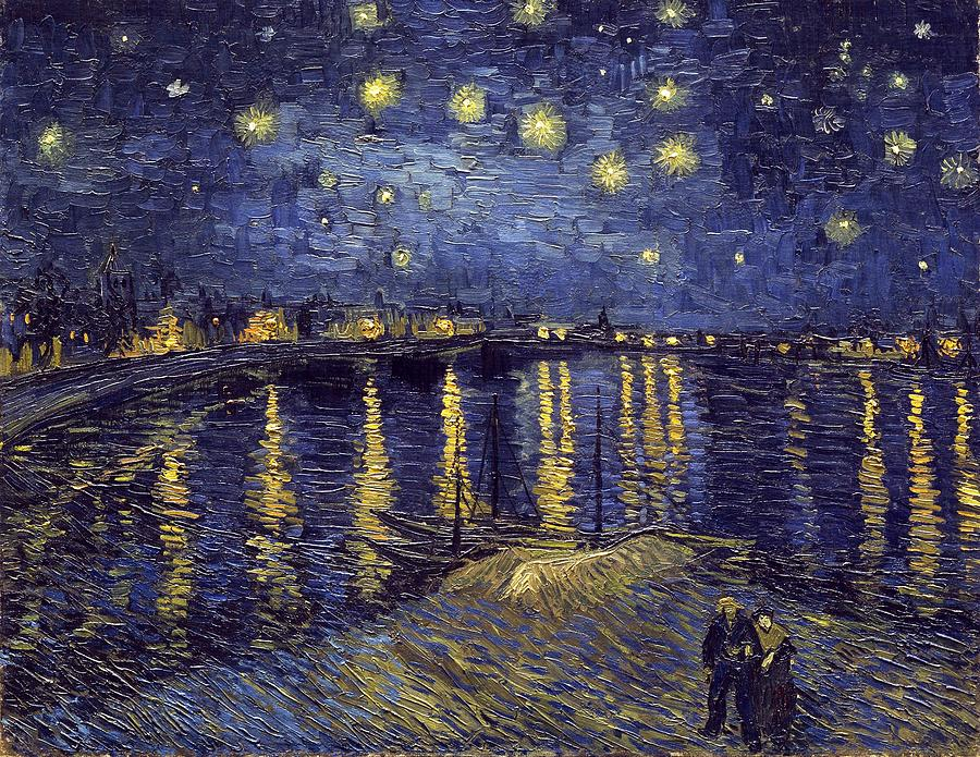 Vincent Van Gogh Painting - Starry Night Over The Rhone by Van Gogh