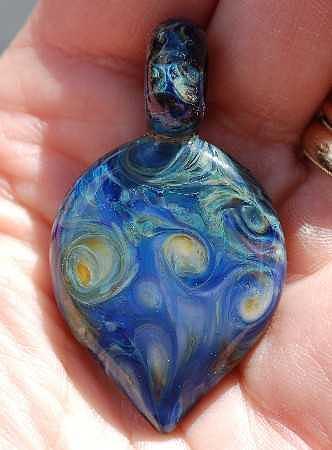Boro Glass Art - Starry Night by Paula McDonough