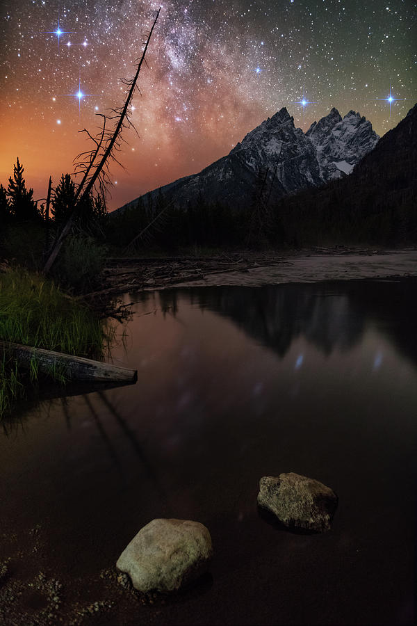 Starry Night Seclusion At String Lake Photograph