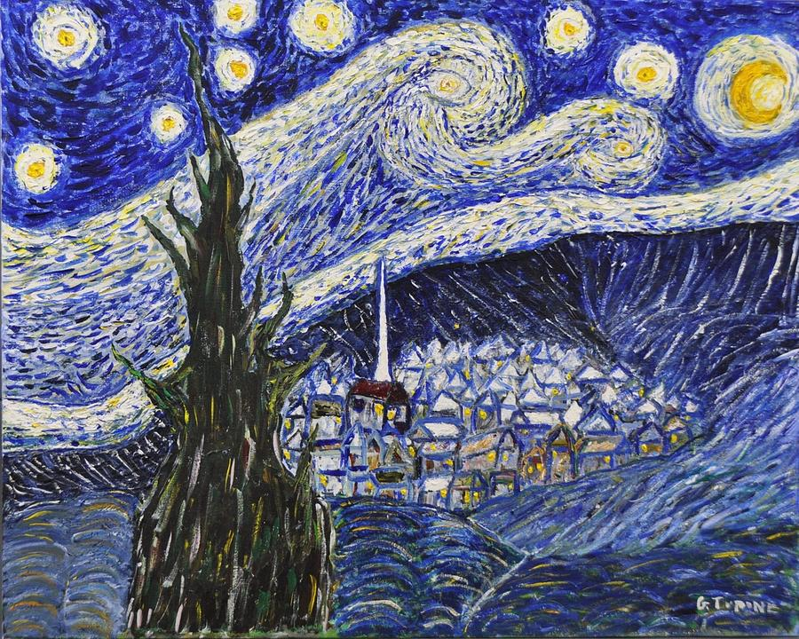 Starry Nights Painting - Starry Nights And Serenity  by Gino Tupone