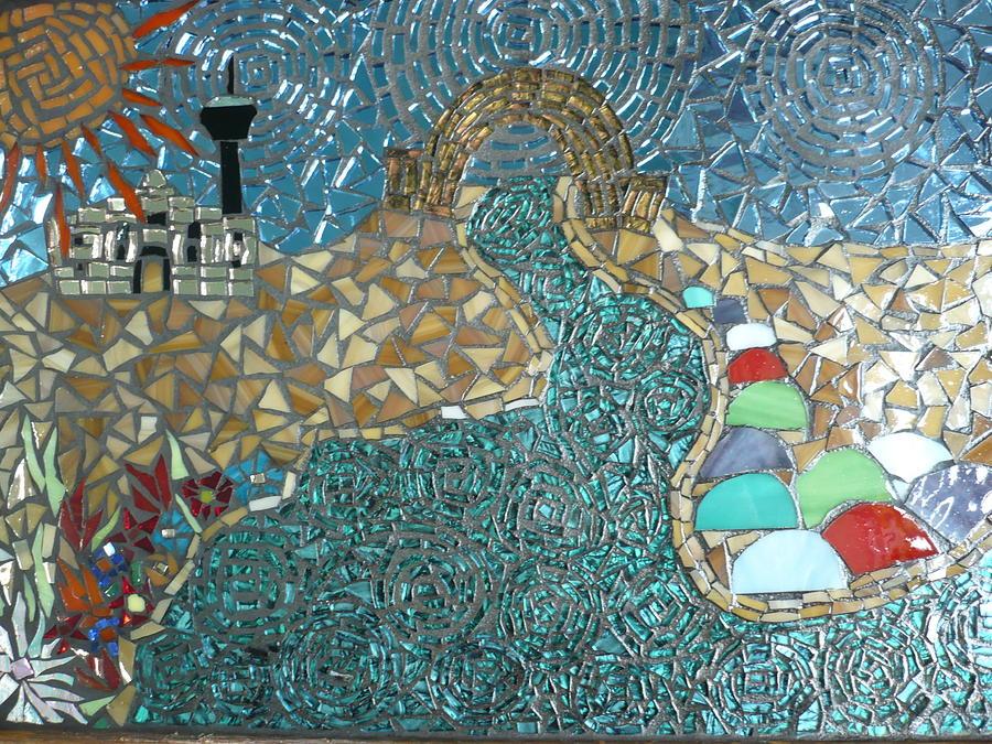 San Antonio Glass Art - Starry Riverwalk by Ann Salas