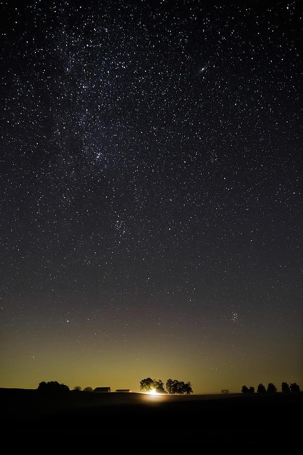 Starry Sky over Virginia Farm by Lori Coleman
