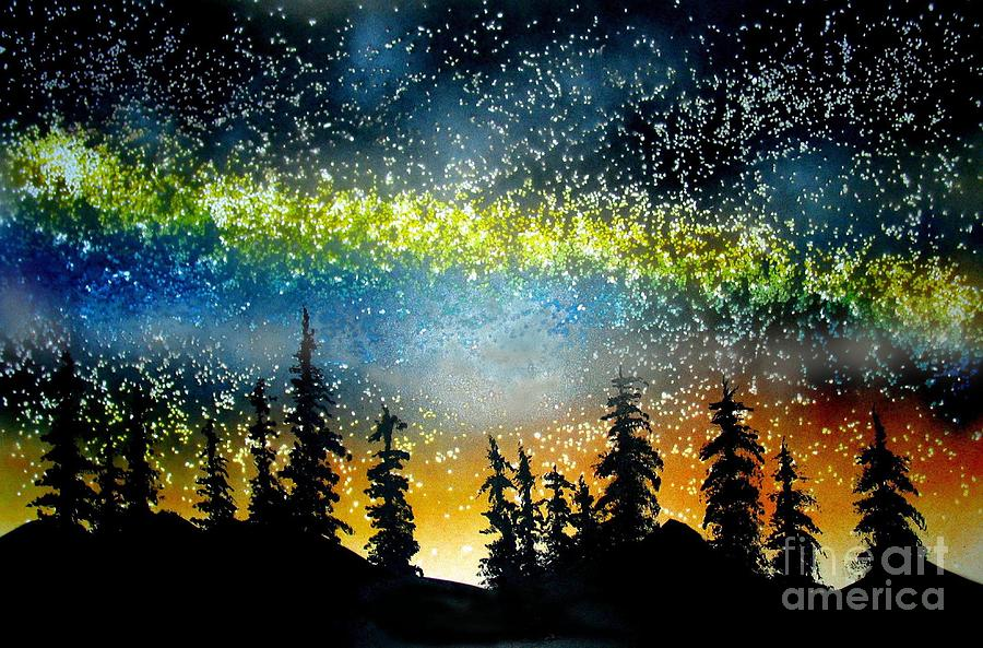 Stars Painting - Starry Starry Night by Ed Moore