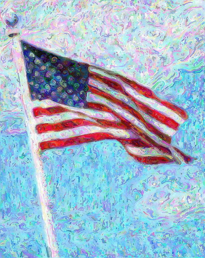 American Flag Mixed Media - Stars And Stripes by Colleen Kammerer