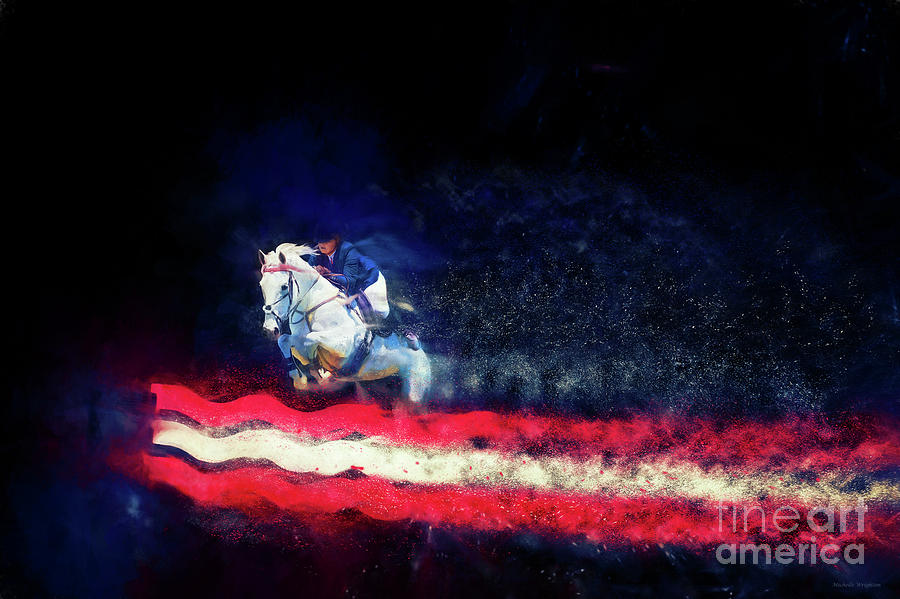 Stars and Stripes - Colour Explosion by Michelle Wrighton