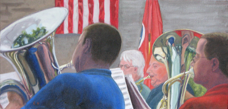 Musicians Painting - Stars And Stripes by Cynthia Vowell