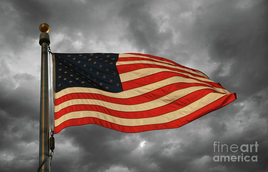 United States Flag Photograph - Stars And Stripes by E B Schmidt