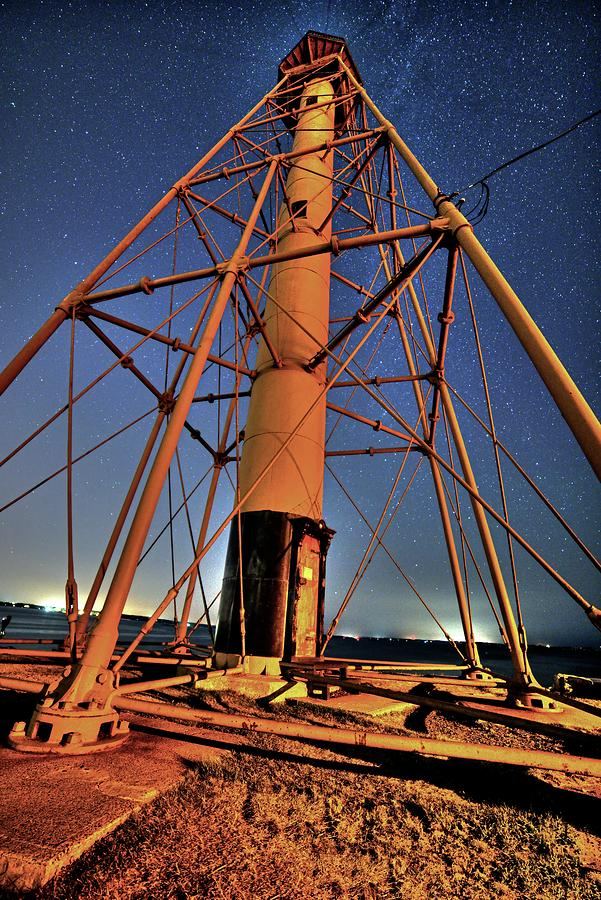 Stars over the Marblehead Light Tower Marblehead MA by Toby McGuire