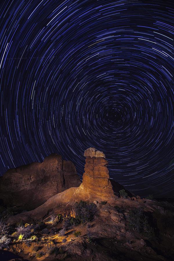 Star Trails Photograph - Stars Trails by Matt Cohen