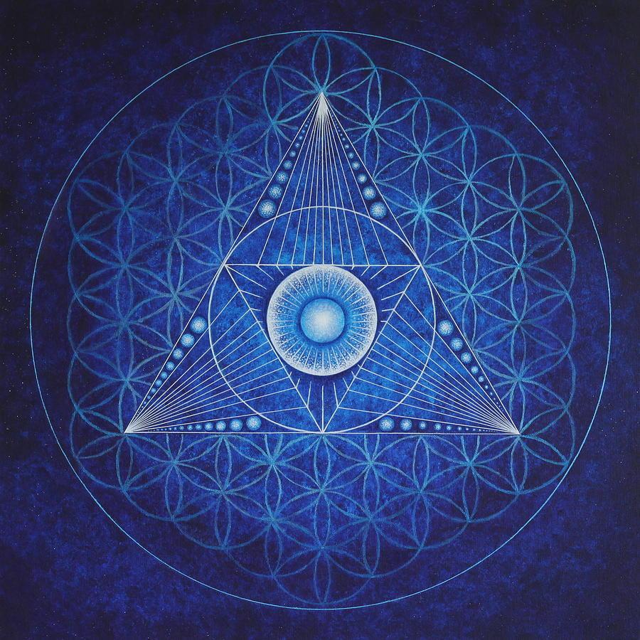 Mandala Painting - Starseed Transmissions by Erik Grind