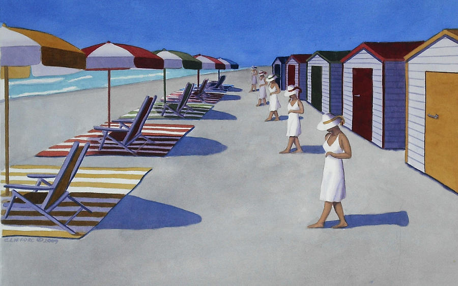 Beach Painting - Starting a day at the beach by Cory Clifford