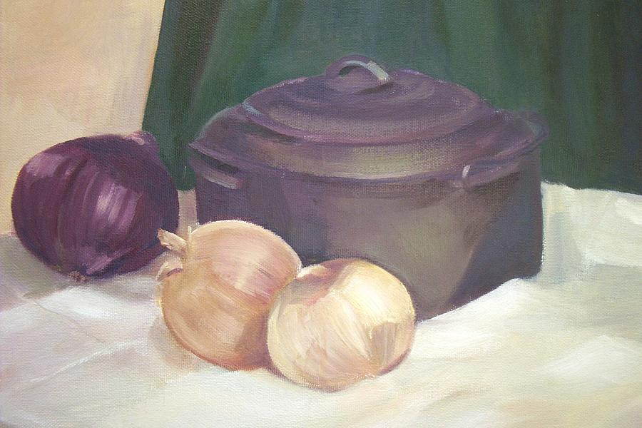 Still Life Painting - Starting Stew by Jan Cline-Zimmerman