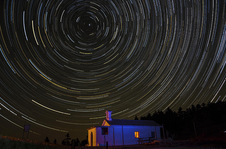 Stars Photograph - Startrail by Pixillusions Photography - Digital Art