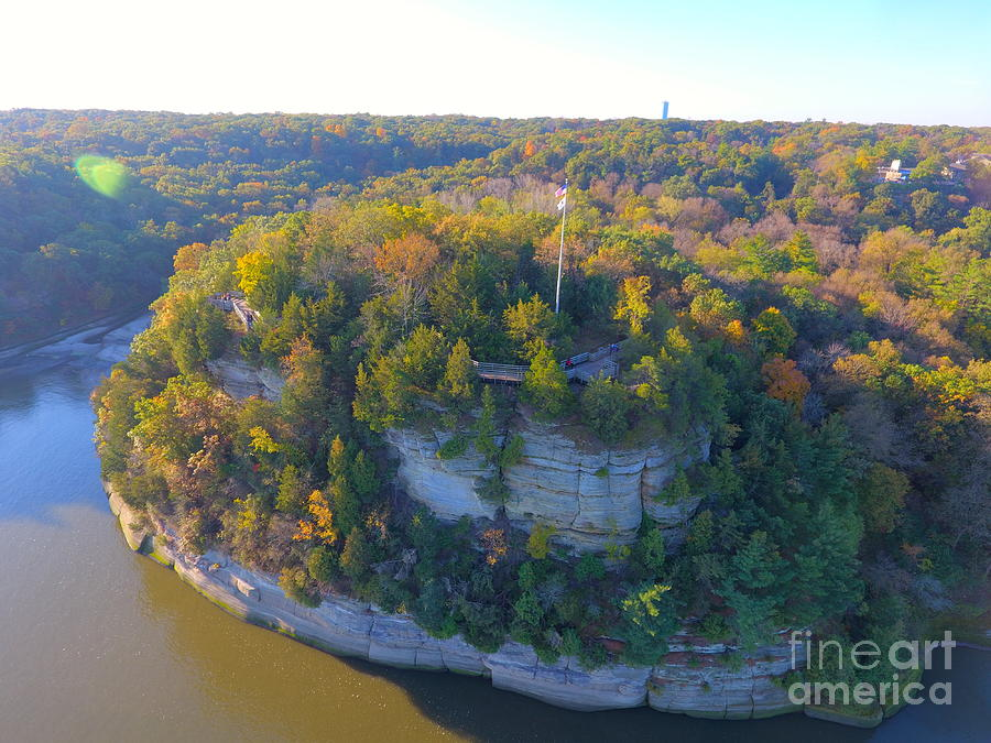 Trees Photograph - Starved Rock Ill, by Timeless Aerial Photography LLC
