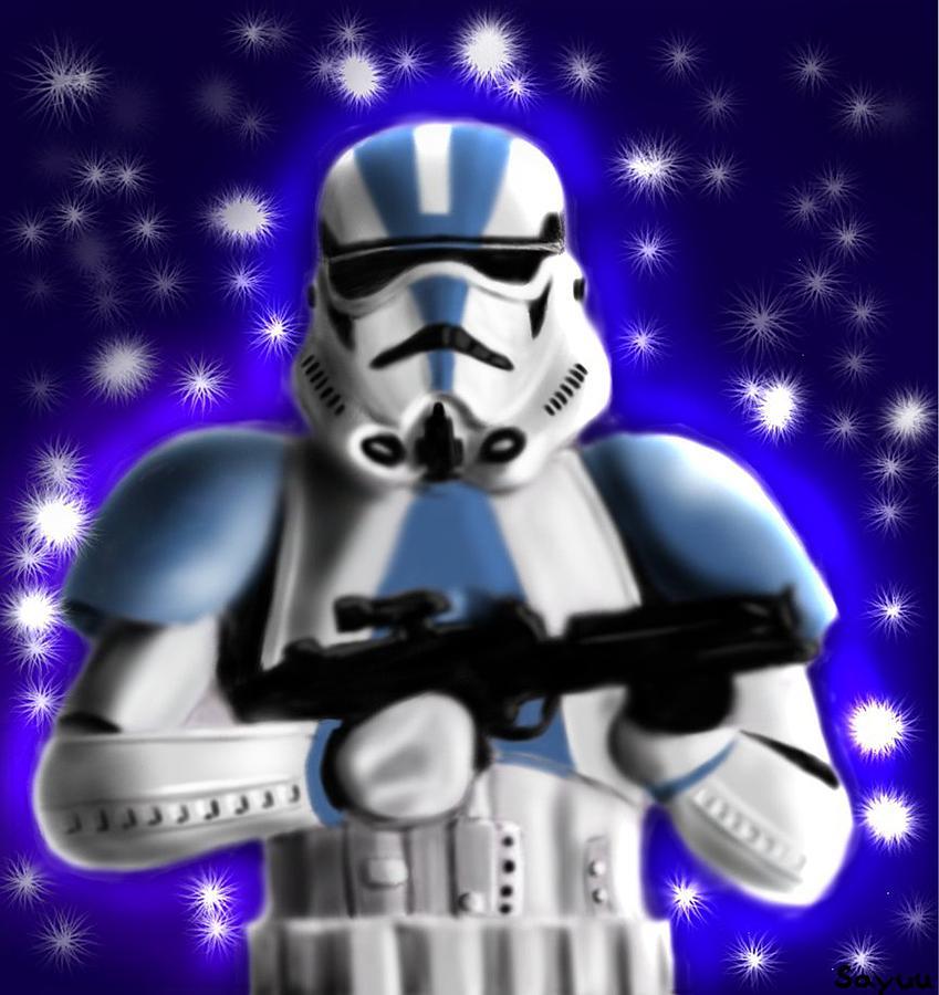 Star Drawing - Starwars. Stormtrooper by Sandra Geis