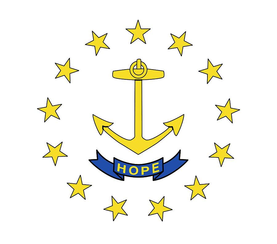 State Flag Of Rhode Island Painting By American School