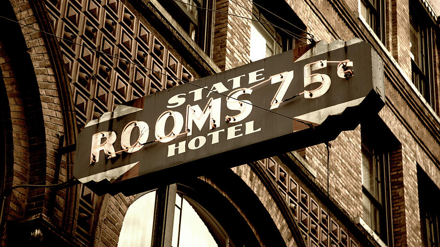 Seattle Photograph - State Hotel - Seattle by Stephen Stookey