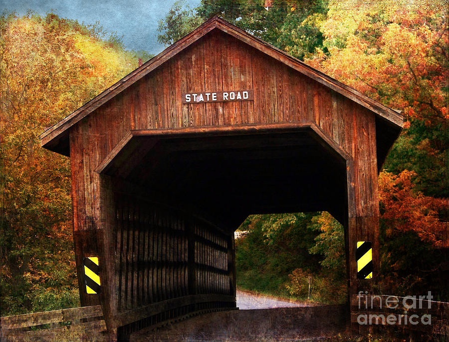 State Road Covered Bridge Photograph