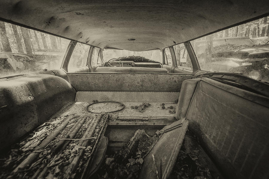 Abandoned Photograph - Station Wagon by Lindy Grasser