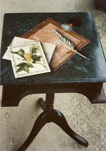 Stationary Mixed Media - Stationary Table by Lauren Cole Abrams