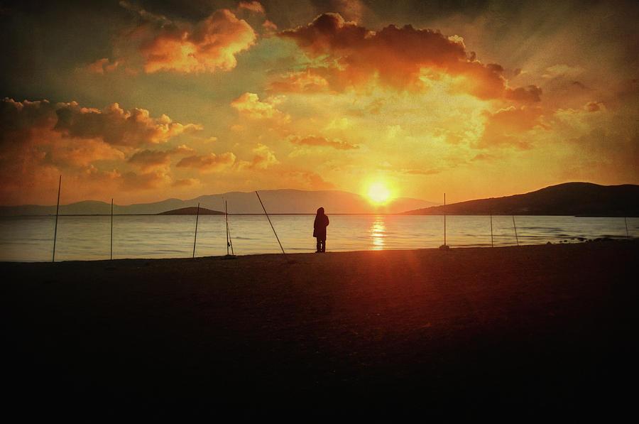 Sunset Photograph - Stationary Traveller by Zapista Zapista