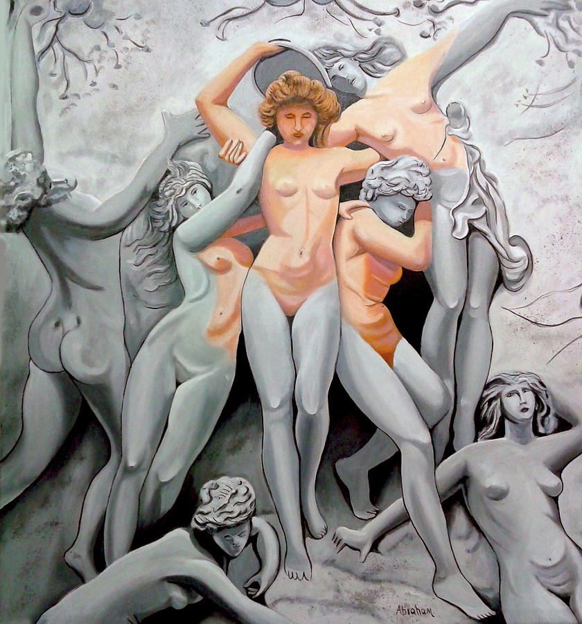 Nude Painting - Statue 3 by Jose Manuel Abraham