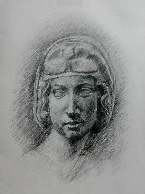 Statue Drawing - Statue by Amir Khalify