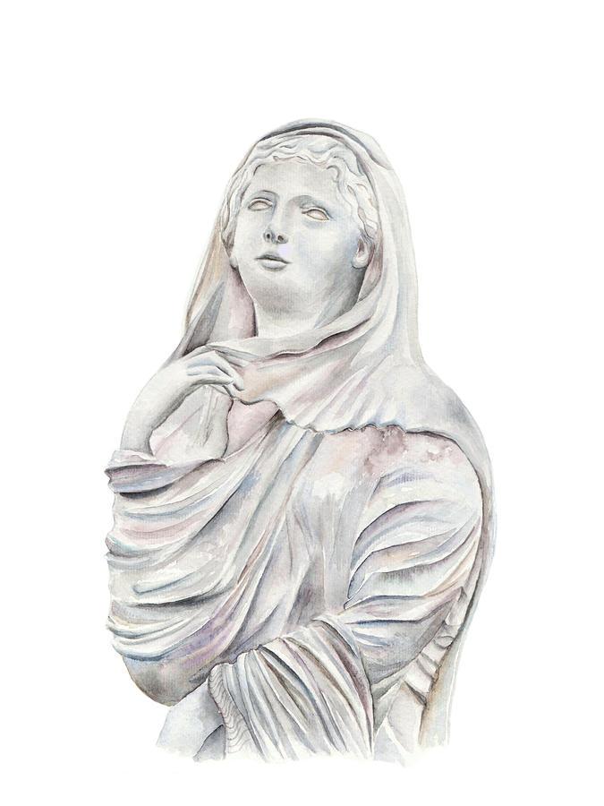 Still Life Painting - Statue by Elizabeth Lock