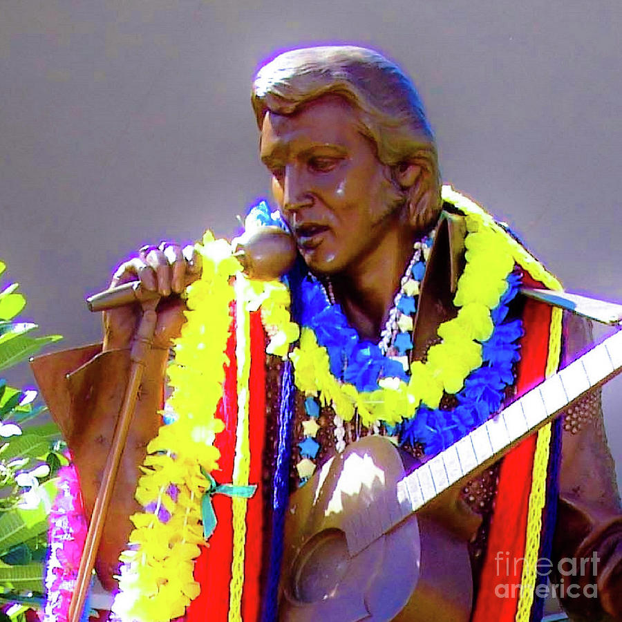 Elvis Photograph - Statue Of, Elvis Presley - Honolulu, Hawaii - 565 C by D Davila