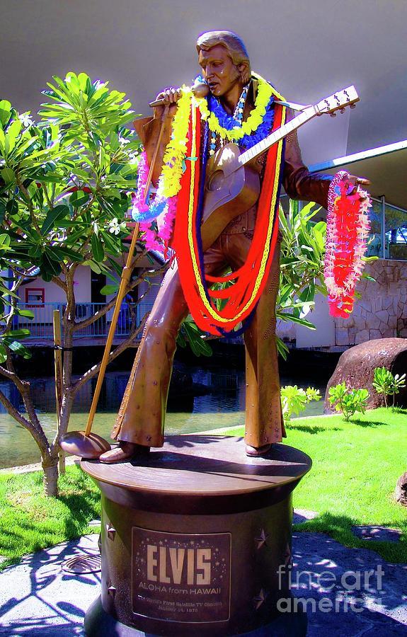 Statue of, Elvis Presley - Honolulu, Hawaii  by D Davila